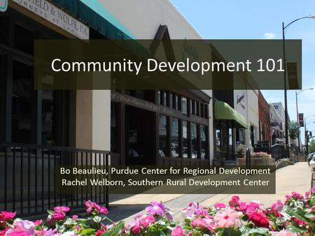 Community Development 101