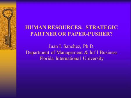 the strategic international human resource management essay Human resource management (hrm or hr) is the strategic approach to the effective management of organization workers so that they help the business gain a competitive advantage, commonly referred to as the hr department [by whom], it is designed to maximize employee performance in service of an employer's strategic objectives.