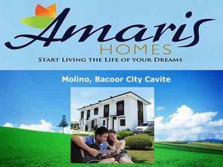 LOGO Molino, Bacoor City Cavite. Elyana 2-Storey Town House, Provision for 2 Bedroom 1 Toilet & Bath Lot Area: 36 sqm. Floor area: 46 sqm.