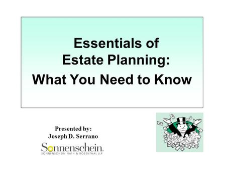Essentials of Estate Planning: