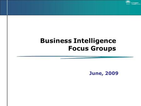 Business Intelligence Focus Groups June, 2009. Agenda Welcome Introductions Presentation on Business Intelligence Discussion Groups – Identifying Issues.