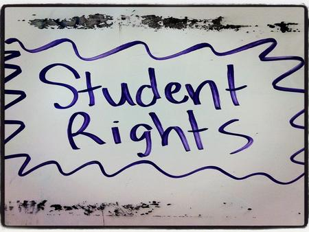 Cases on student rights. Tinker vs. Des Moines Who remembers the legal principle involved in Tinker?