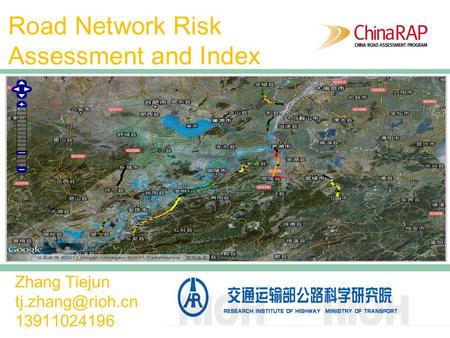 <strong>Road</strong> Network Risk Assessment and Index Zhang Tiejun 13911024196.