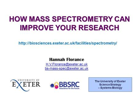 Hannah Florance  The University of Exeter Science.