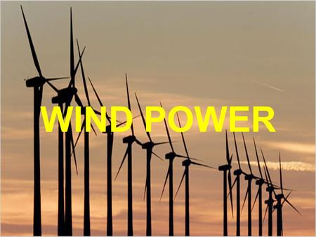 WIND POWER. INTRODUCTION I'm going to explain some things about wind power, like: The importance of this in Spain The most important characteristics And.