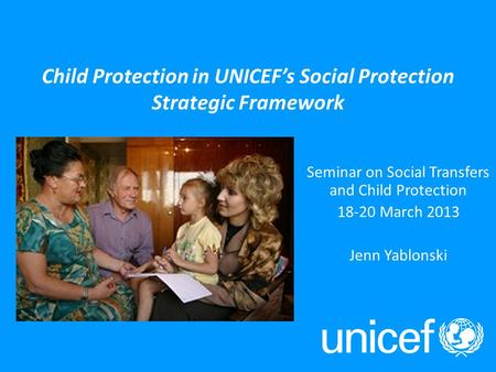 UNICEF Social Protection Work an overview Show and Tell on Social Protection Bonn, 2011 UNICEF and social protection – Rationale: Equity approach Social.