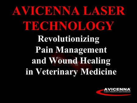 AVICENNA LASER TECHNOLOGY Revolutionizing Pain Management and Wound Healing in Veterinary Medicine.