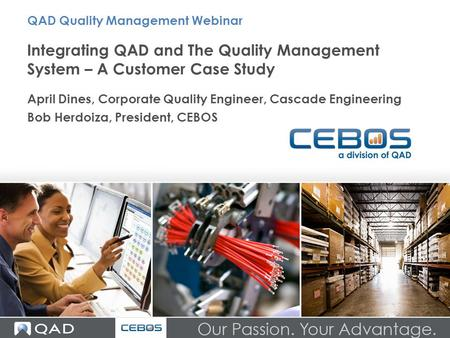 QAD Quality Management Webinar