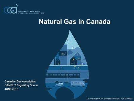 Natural Gas in Canada Canadian Gas Association CAMPUT Regulatory Course JUNE 2015.