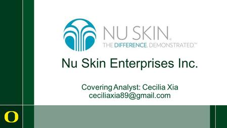 Nu Skin Enterprises Inc. Covering Analyst: Cecilia Xia