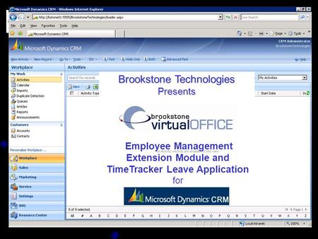 Brookstone Technologies Presents Employee Management Employee Management Extension Module and TimeTracker Leave Application for.