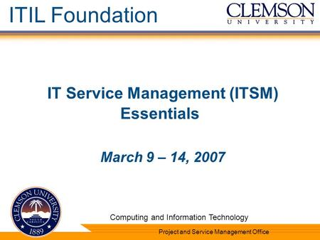 IT Service Management (ITSM) Essentials