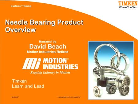 Needle Bearing Product Overview