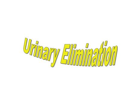 Urinary Elimination.