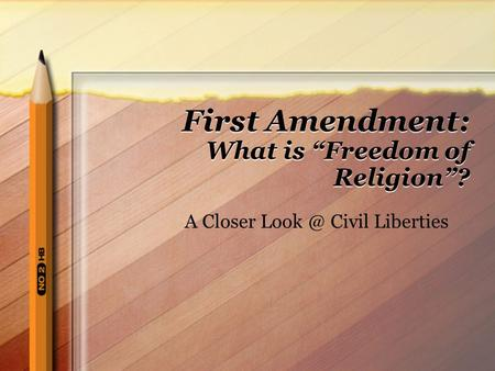 "First Amendment: What is ""Freedom of Religion""?"
