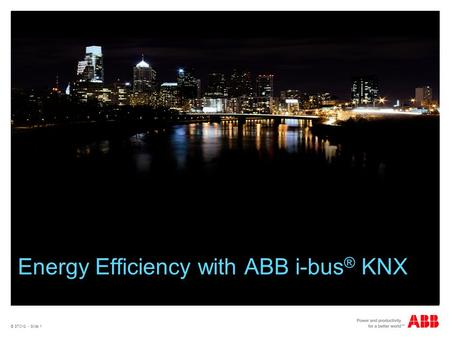 Energy Efficiency with ABB i-bus® KNX