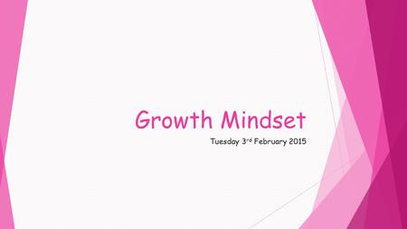 Growth Mindset Tuesday 3 rd February 2015. A sense of self worth Lifelong Learner Social Being.