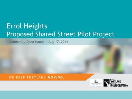Errol Heights Proposed Shared Street Pilot Project