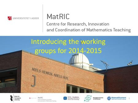 1 Introducing the working groups for 2014-2015. Simulation group Per Henrik Hogstad 2.