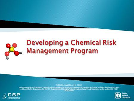 Developing a Chemical Risk Management Program