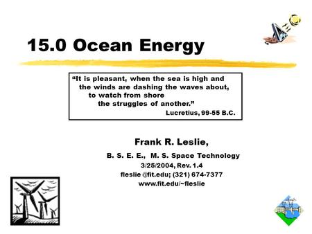 15.O Overview of Ocean Energy