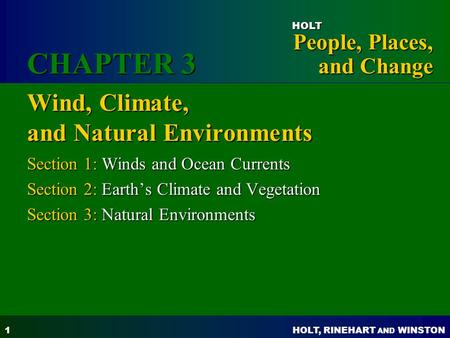 Wind, Climate, and Natural Environments