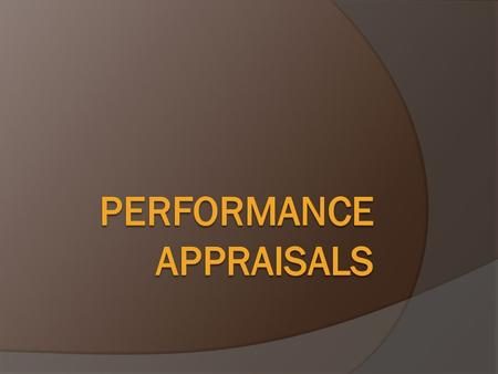 Agenda  Eligibility for performance ratings  Preparing the appraisal  The electronic form  Conducting the appraisal  Consequences of rating  Elements.