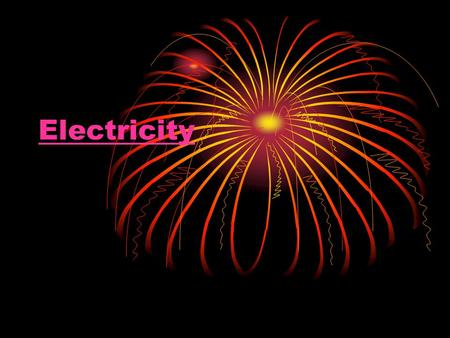 Electricity. Static Is stationary E.g. Brush your hair Wool socks in tumble drier Current Flows around circuit E.g. turn on light Walkman Electricity.