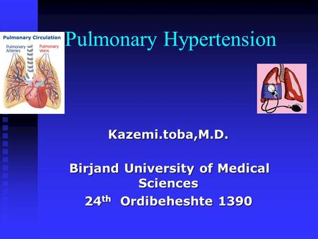 The Basics of Pulmonary Hypertension Lana Melendres-Groves ...