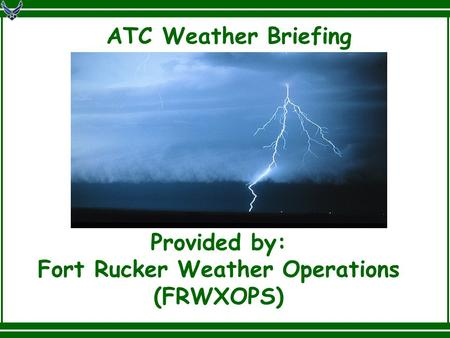 Fort Rucker Weather Operations