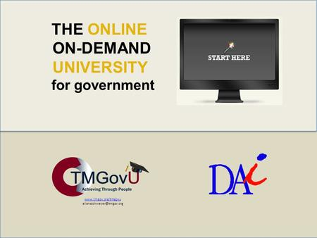 THE ONLINE ON-DEMAND UNIVERSITY for government.