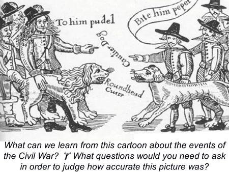  starter activity What can we learn from this cartoon about the events of the Civil War?  What questions would you need to ask in order to judge how.