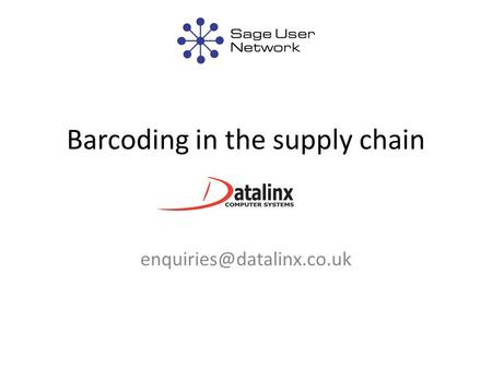 Barcoding in the supply chain