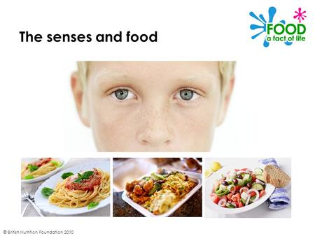 The senses and food © British Nutrition Foundation 2010.