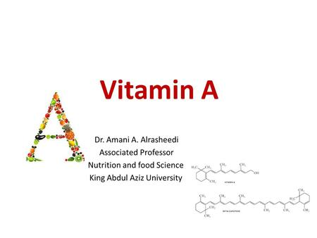 Vitamin A. Vitamin A was first vitamin to be discovered, initially as an essential dietary factor for growth. Vitamin A roles : in vision pigments in.