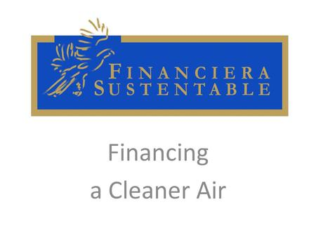 Financing a Cleaner Air. Air pollution: our main enemy Air pollution attempts against our own sustainability since it is the main factor of environmental.
