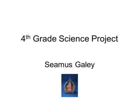 4 th Grade Science Project Seamus Galey. What can make a battery? Can a battery be made with different objects?