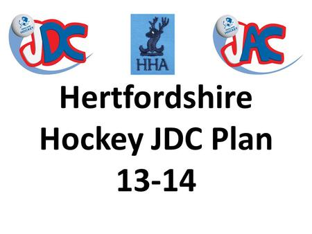 Hertfordshire Hockey JDC Plan 13-14. 1.Coachability – The desire to be successful, a willingness to listen and try to apply coach input 2.Speed – Raw.