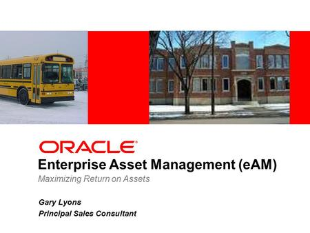 Enterprise Asset Management (eAM)