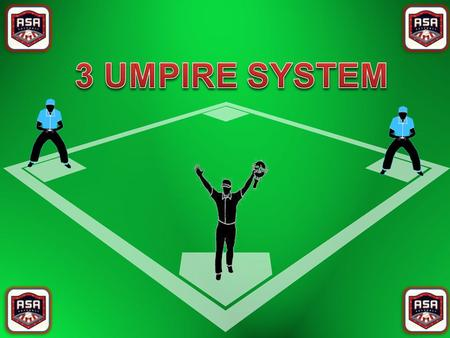 Rotation in the Three Umpire System Rotation in the Three Umpire System is always in a clockwise direction When the umpires start from a counter rotated.