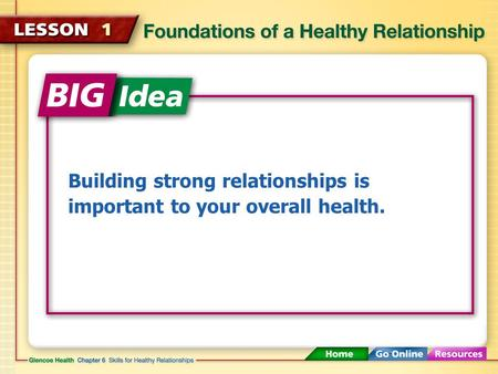 Building strong relationships is important to your overall health.