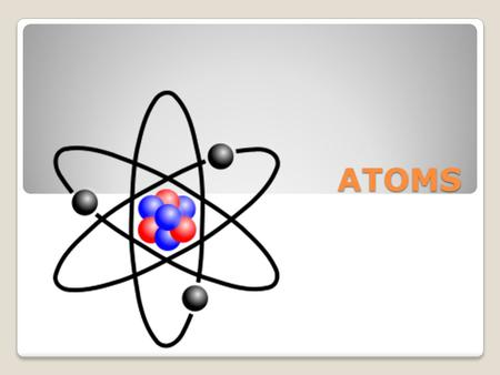 ATOMS. Objectives What is an atom and its three subatomic parts? What are the charges of the three subatomic parts? How do you find atomic mass and the.