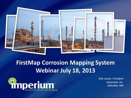 FirstMap Corrosion Mapping System