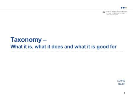 Taxonomy – What it is, what it does and what it is good for NAME DATE 1.
