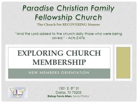 Exploring Church Membership