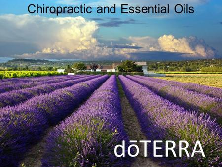 Chiropractic and Essential Oils