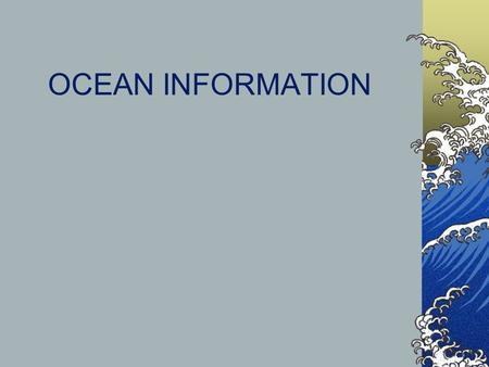 "OCEAN INFORMATION. DEPTH ZONES Epipelagic zone ""sunlight zone"" 1 st 200 meters almost all visible light occurs here Mesopelagic zone ""twilight zone"" 200-1000."