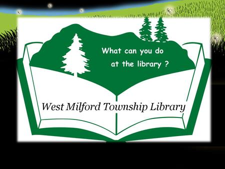 What can you do at the library ?. You can get a free library card.