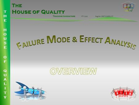 PTY (Ltd)Reg No: 2007/019351/07. FAILURE MODE & EFFECT ANALYSIS 4 th Edition (Including Control Plans) WHAT IS AN FMEA? FMEA is an analytical technique.