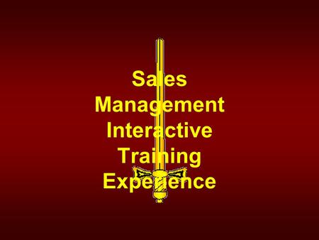 Sales Management Interactive Training Experience.